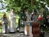 """Dr. Best, Erzbischof Chama und Pater Thomas Matthei zelebrieren den Gottesdienst in der """"Kirche am See"""""""